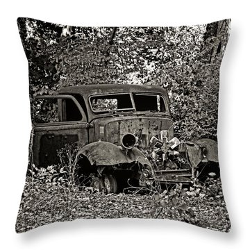 Throw Pillow featuring the photograph Diamond T by Betty Depee