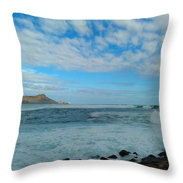 Diamondhead And A Yellow Fence Throw Pillow