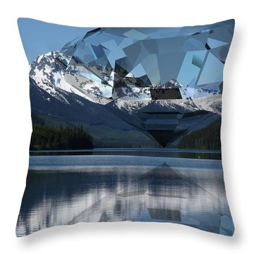 Diamonds Darling Throw Pillow