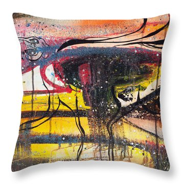Diamonds On The Face Of Evil II Throw Pillow by Sheridan Furrer