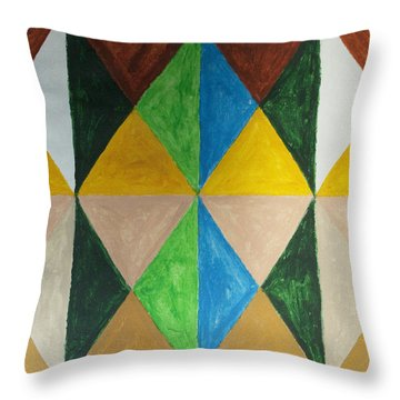 Diamonds Throw Pillow by Stormm Bradshaw
