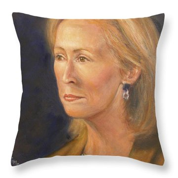 Throw Pillow featuring the painting Diane Marie by Donelli  DiMaria