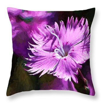 Dianthus Throw Pillow