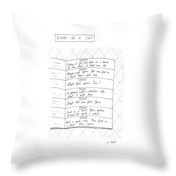 Diary Of A Cat: Throw Pillow