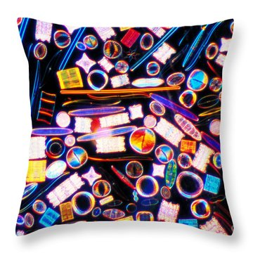 Diatom Arrangement Throw Pillow by Kent Wood