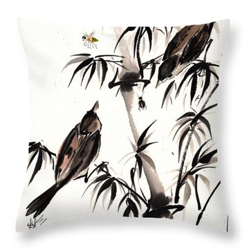 Dibs Throw Pillow by Bill Searle