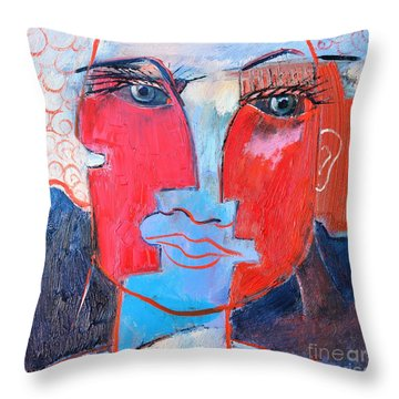 Dichotomous Being  Throw Pillow by Ana Maria Edulescu