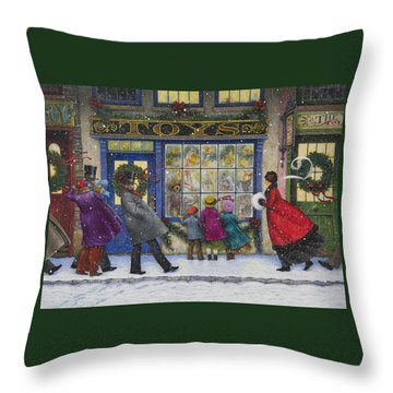 The Toy Shop Throw Pillow by Lynn Bywaters