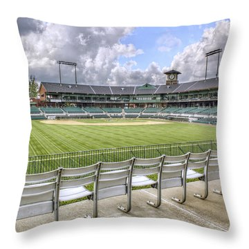 Dickey-stephens Park Throw Pillow