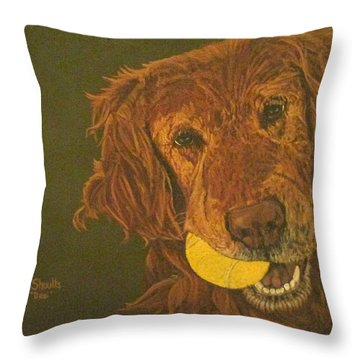 Did Somebody Say Ball? Throw Pillow by Wendy Shoults
