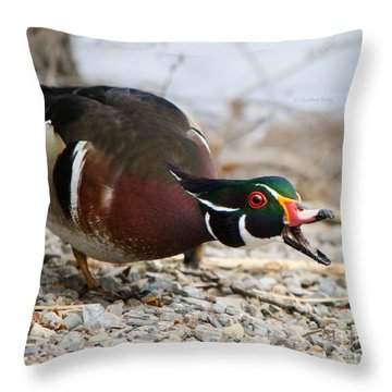 Throw Pillow featuring the photograph Did You Hear The News? by Heather King