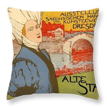 Die Alte Stadt Throw Pillow