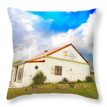Throw Pillow featuring the photograph Die Winkel by Taschja Hattingh