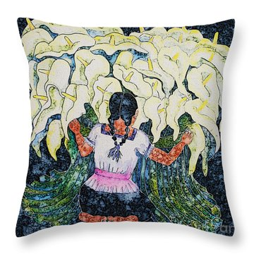 Diego's Calla Throw Pillow by Victoria Page