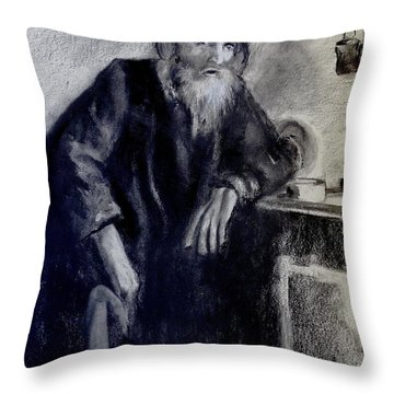 Dying Monk - Face To Faith Throw Pillow by Eric Dee