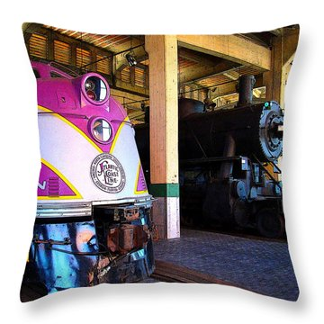 Diesel And Steam Throw Pillow