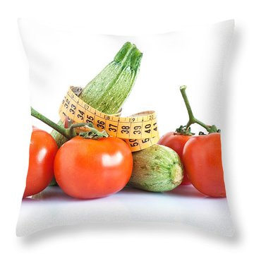 Diet Ingredients Throw Pillow