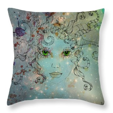 Throw Pillow featuring the digital art Different Being by Barbara Orenya