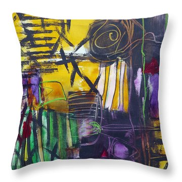 Different Path Throw Pillow