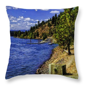 Different Pathways-2 Throw Pillow