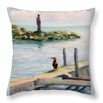 Different Views Throw Pillow by Mary Schiros