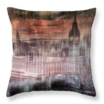 Digital-art London Westminster II Throw Pillow by Melanie Viola