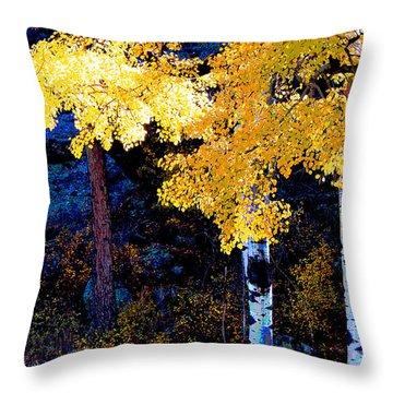 Digital Aspen Throw Pillow