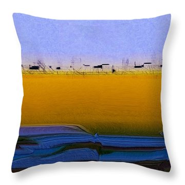 Digital City Landscape - 2 Throw Pillow