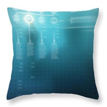 Digital Display  Throw Pillow