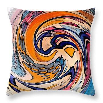 Digital Dunkin Throw Pillow by Sarah Loft