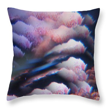 Digital Fantasy Storm Abstract Throw Pillow by Sheri Dean
