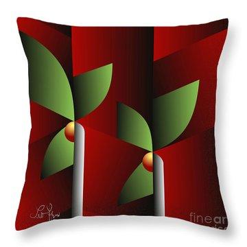 Throw Pillow featuring the digital art Digital Garden by Leo Symon