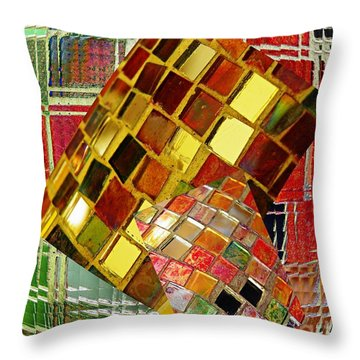 Digital Mosaic Throw Pillow by Sarah Loft