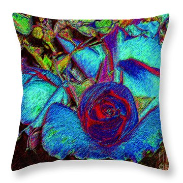 Throw Pillow featuring the photograph Digital Painting - Floral Tapestry by Merton Allen