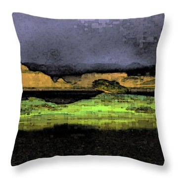 Digital Powell Throw Pillow