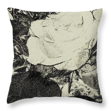 Throw Pillow featuring the photograph Digital Rose by Scott Kingery