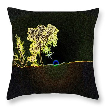 Digital Sunset Throw Pillow by Jeff Swan
