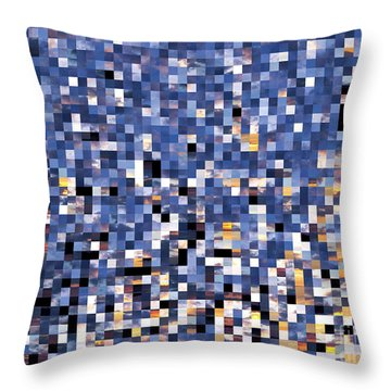 Digital Sunset Throw Pillow by Nina Ficur Feenan