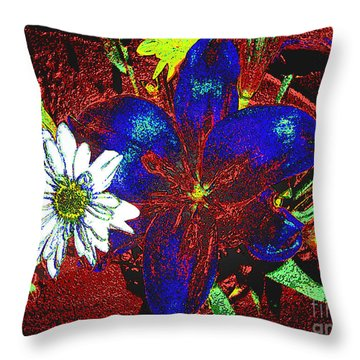 Throw Pillow featuring the photograph Digitally Modified Photograph by Merton Allen