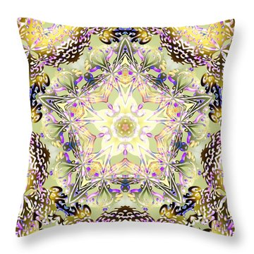 Digmandala Simha Throw Pillow by Derek Gedney