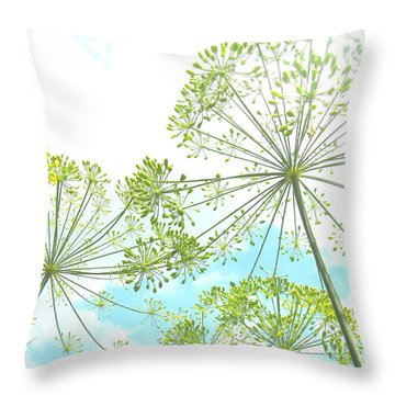 Dill Garden Throw Pillow