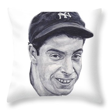 Throw Pillow featuring the painting Dimaggio by Tamir Barkan