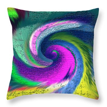 Throw Pillow featuring the mixed media Dimensional Doorway by Carl Hunter