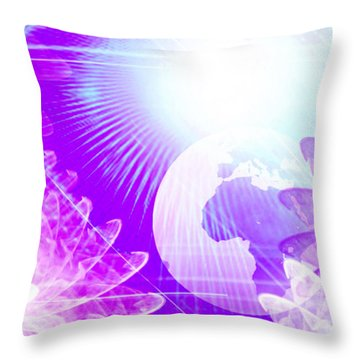 Dimensional Shift Throw Pillow by Ute Posegga-Rudel