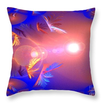Dimensions Throw Pillow by Jacqueline Lloyd