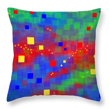 Throw Pillow featuring the digital art Dimensions by Lena Wilhite