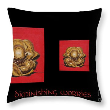 Diminishing Worries Throw Pillow