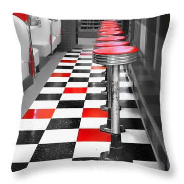 Diner - 1 Throw Pillow by Nikolyn McDonald