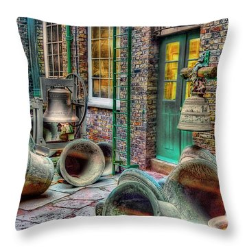 Throw Pillow featuring the photograph Ding Dong Hosiptal by Ron Shoshani
