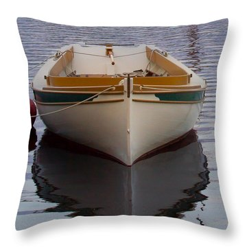 Dinghy Reflection  Throw Pillow